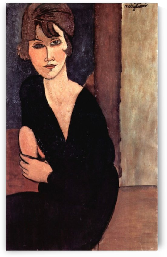 Modigliani - Portrait of Madame Reynouard by Modigliani