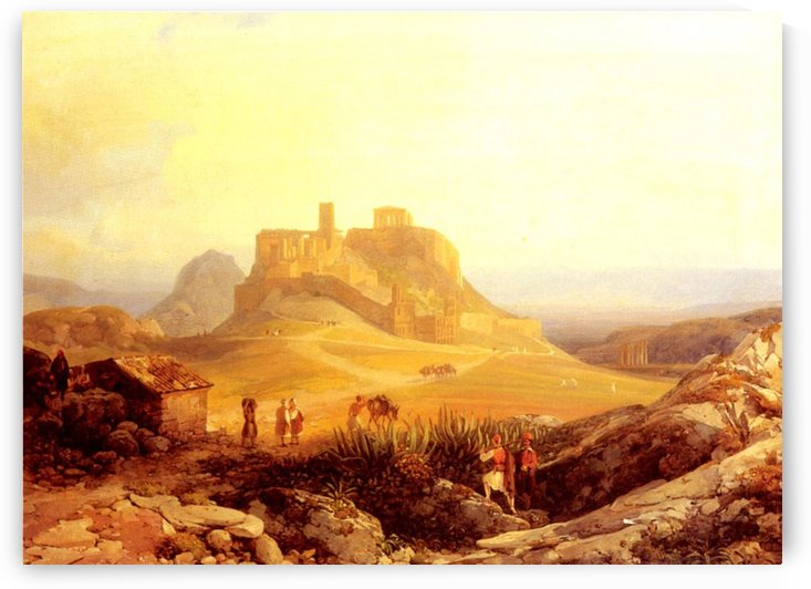 The Acropolis Athens by Thomas Ender
