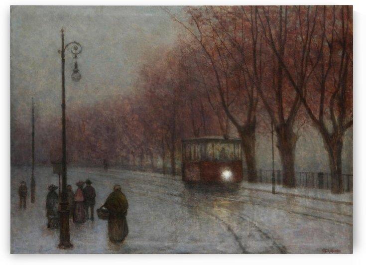 Ufer mit Strasenbahn by Jakub Schikaneder