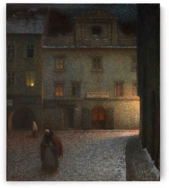 Solitary street by Jakub Schikaneder