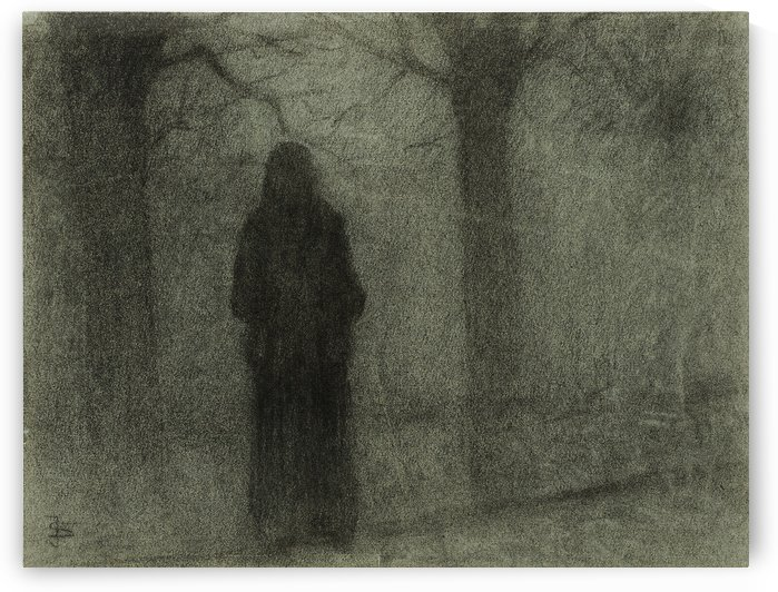Figure Among Trees by Jakub Schikaneder
