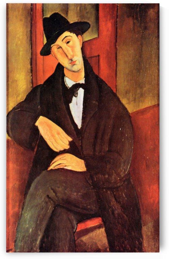 Modigliani - Portrait of Mario Varfogli -2- by Modigliani