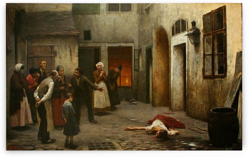 Murder in the house by Jakub Schikaneder