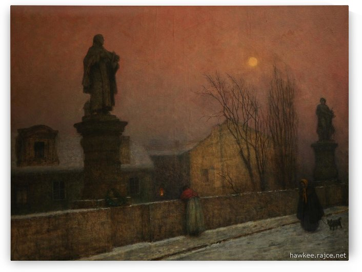 A walk on the bridge by Jakub Schikaneder