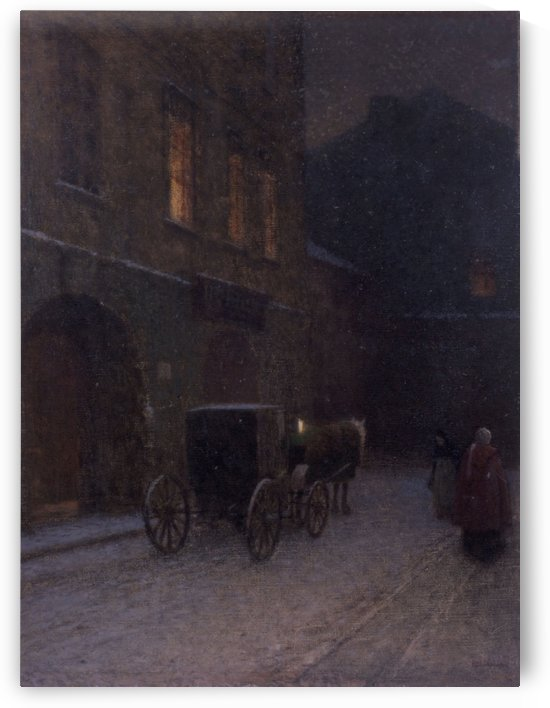 Corner of old Prague by Jakub Schikaneder