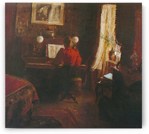 The Interior by Jakub Schikaneder