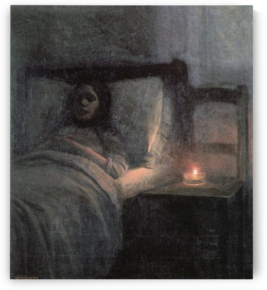 Woman in bed by Jakub Schikaneder