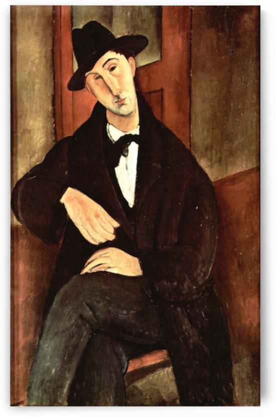 Modigliani - Portrait of Mario Varfogli by Modigliani