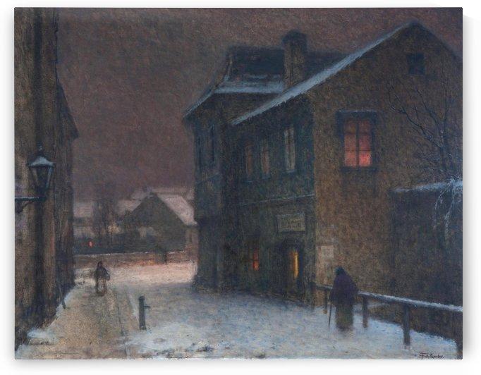 Ulicka ve snehu by Jakub Schikaneder