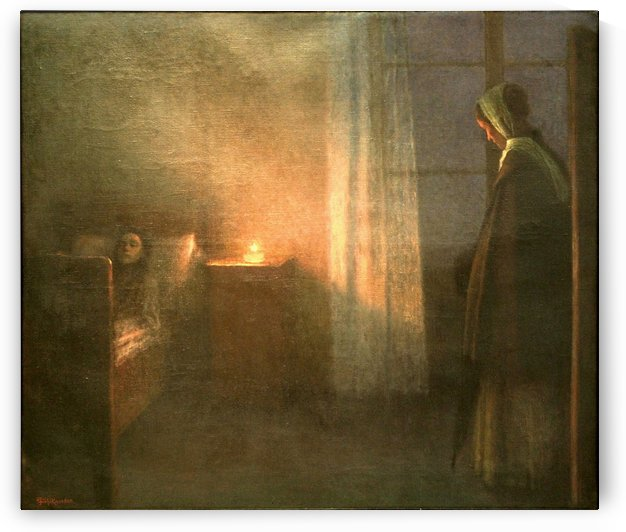 At the Girl's Bed by Jakub Schikaneder