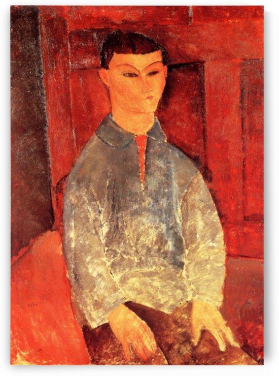Modigliani - Portrait of Moise Kisling -3- by Modigliani