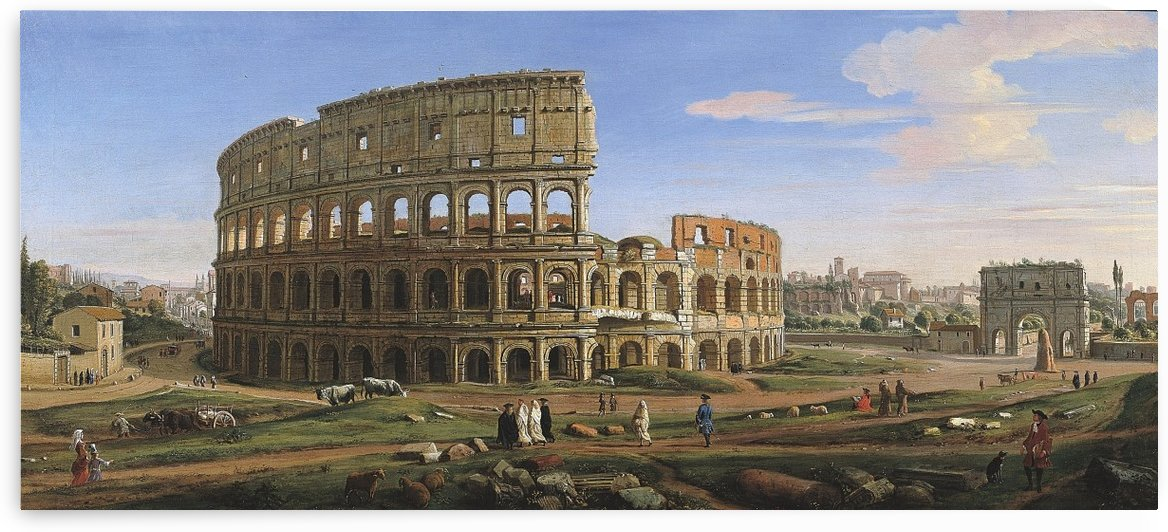 Colloseum by Caspar van Wittel