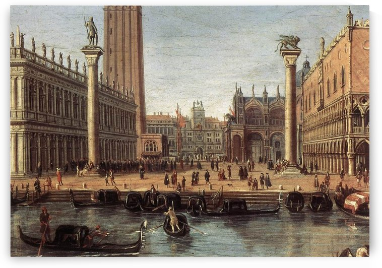 The Piazzetta from the Bacino di San Marco by Caspar van Wittel