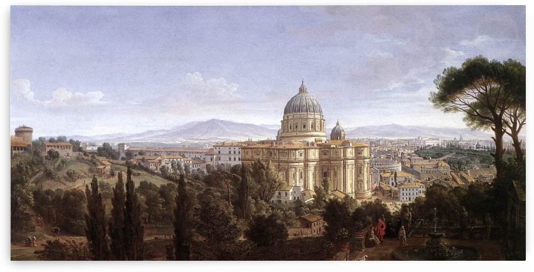 The St Peter's in Rome by Caspar van Wittel