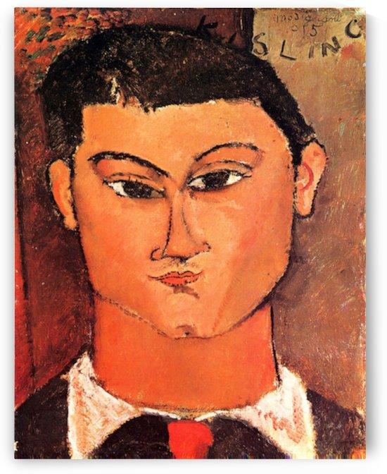 Modigliani - Portrait of Moise Kisling -4- by Modigliani