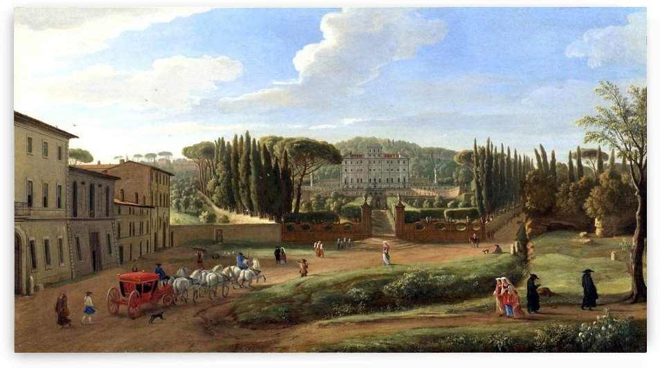 A view of the Villa Aldobrandini by Caspar van Wittel