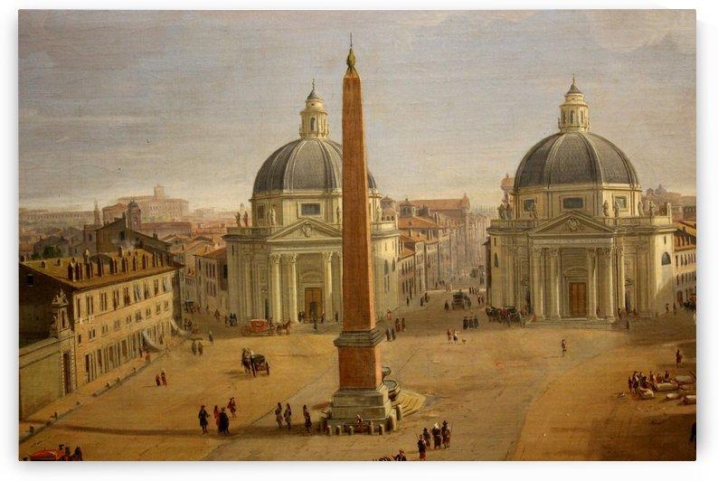Veduta di Piazza del Popolo a Roma by Caspar van Wittel