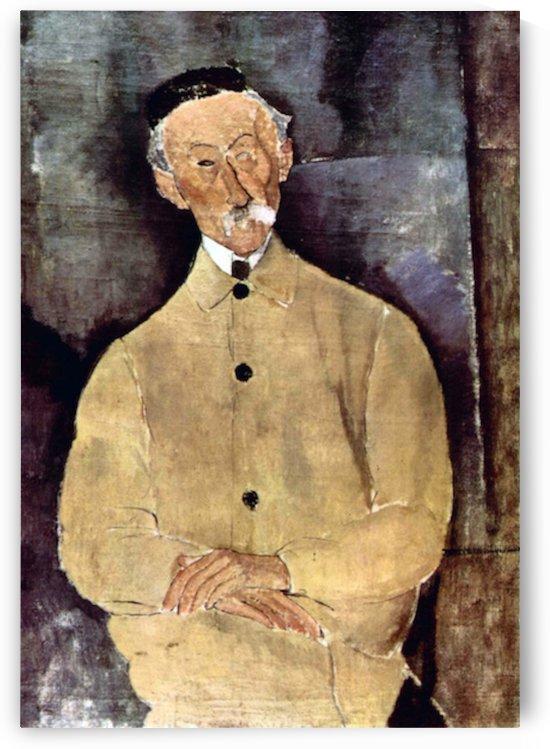 Modigliani - Portrait of Mr. Lepoutre by Modigliani