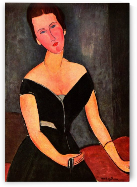 Modigliani - Portrait of Mrs van Muyden by Modigliani