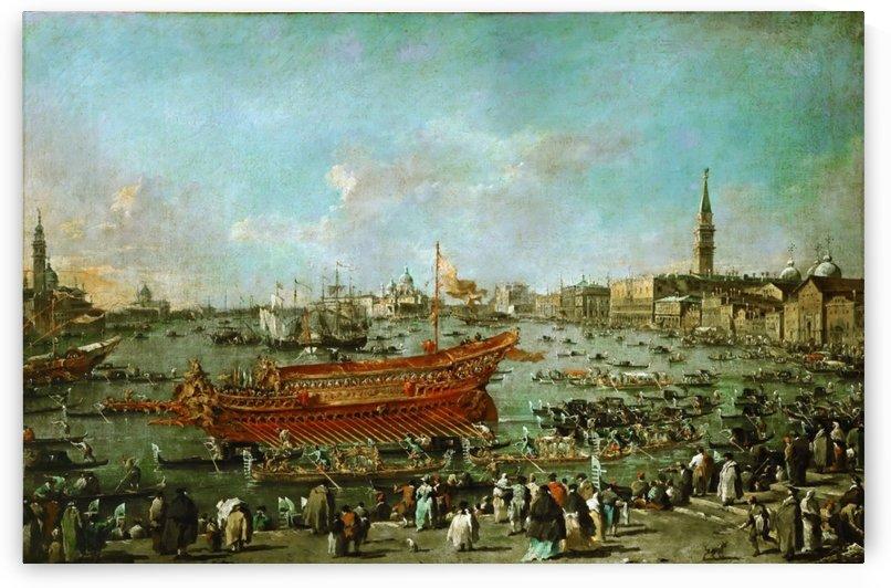 Venetian Scene by August von Siegen