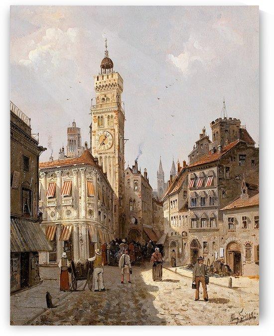 In the square by August von Siegen