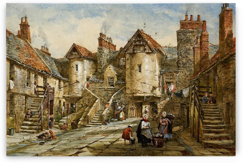 Mittelalterliche Hafenstadt by August von Siegen