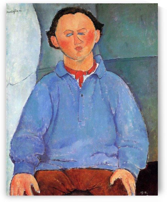 Modigliani - Portrait of Oskar Miestchaninoff by Modigliani