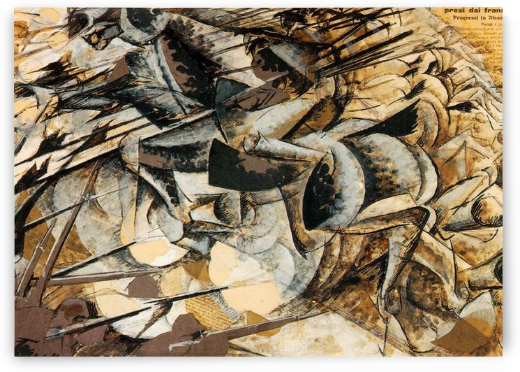 Charge of the Lancers by Umberto Boccioni