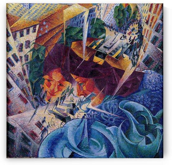 Visioni simultanee by Umberto Boccioni