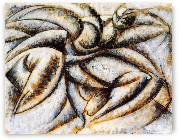 Dynamism of the Human Body by Umberto Boccioni
