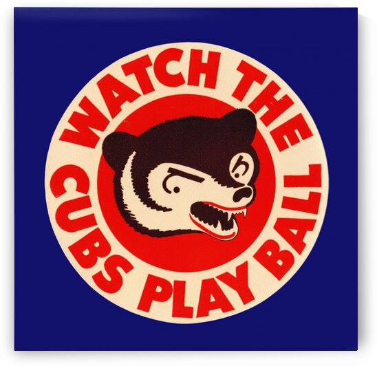 1941 Chicago Cubs Watch the Cubs Play Ball Art by Row One Brand