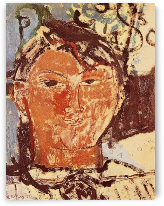 Modigliani - Portrait of Pablo Picasso by Modigliani