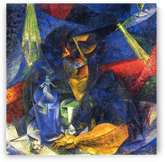 Woman in a Cafe by Umberto Boccioni