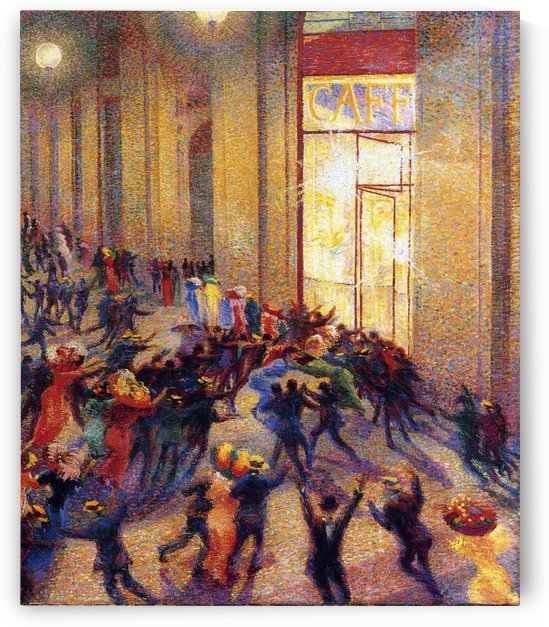 Riot in the Galleria by Umberto Boccioni