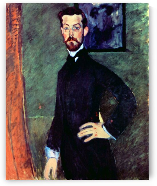Modigliani - Portrait of Paul Alexanders before a green background by Modigliani