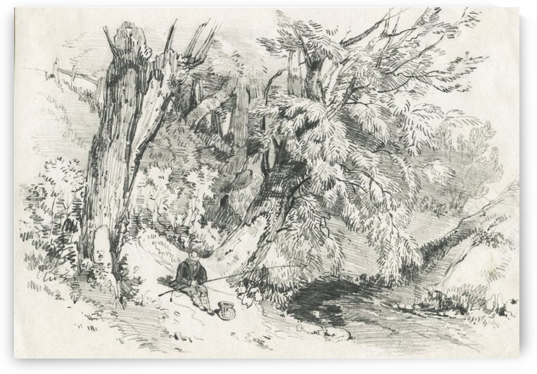Graphite Drawing by James Duffield Harding