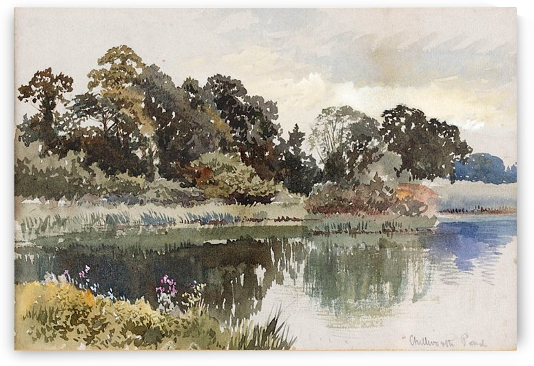Chilworth Pond by James Duffield Harding