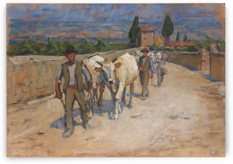 Ritorno dal mercato by Angiolo Tommasi