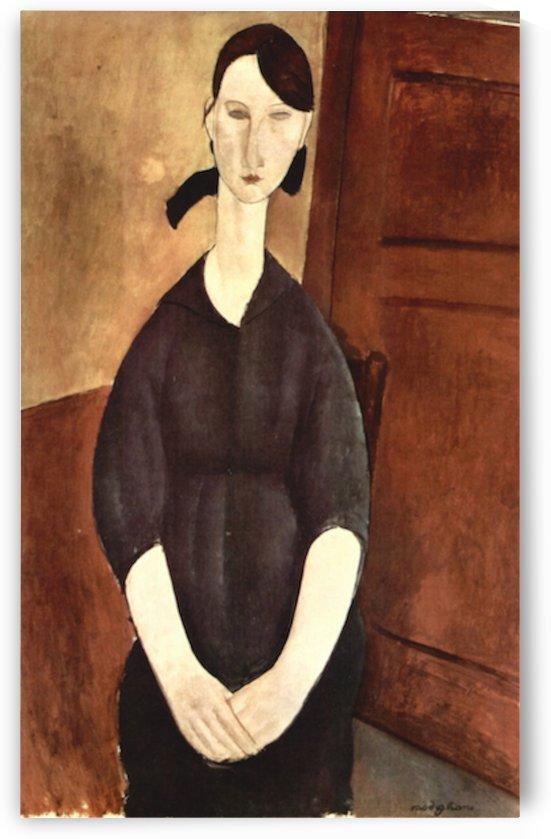 Modigliani - Portrait of Paulette Jourdain by Modigliani