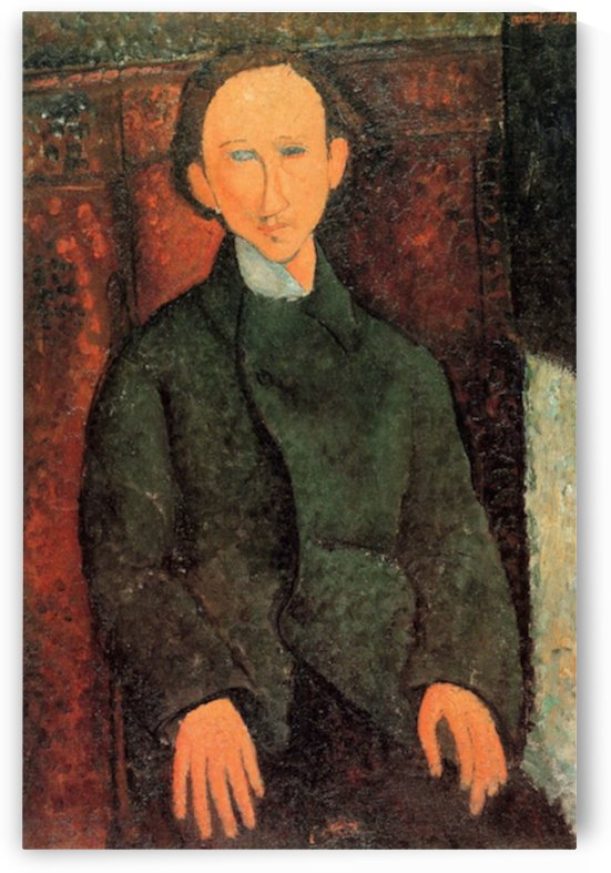 Modigliani - Portrait of Pinchus Kremegne by Modigliani