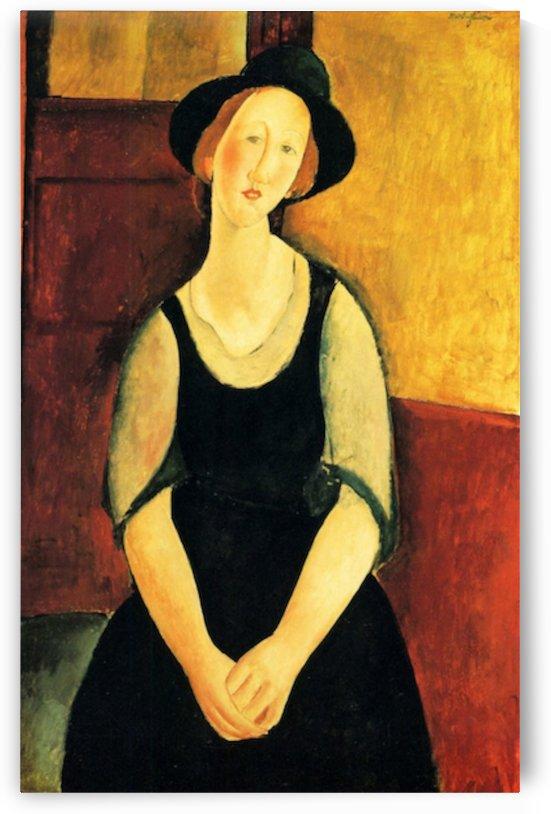 Modigliani - Portrait of Thora Klinckowstroem by Modigliani