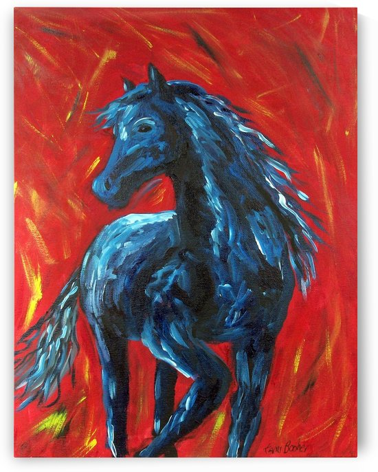 red horse by Tami Booher Appalachian Nature Painter