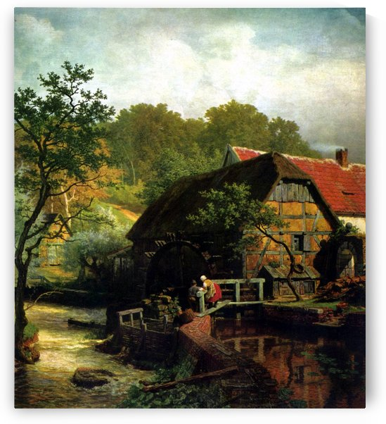 Watermill in Westphalia by Andreas Achenbach