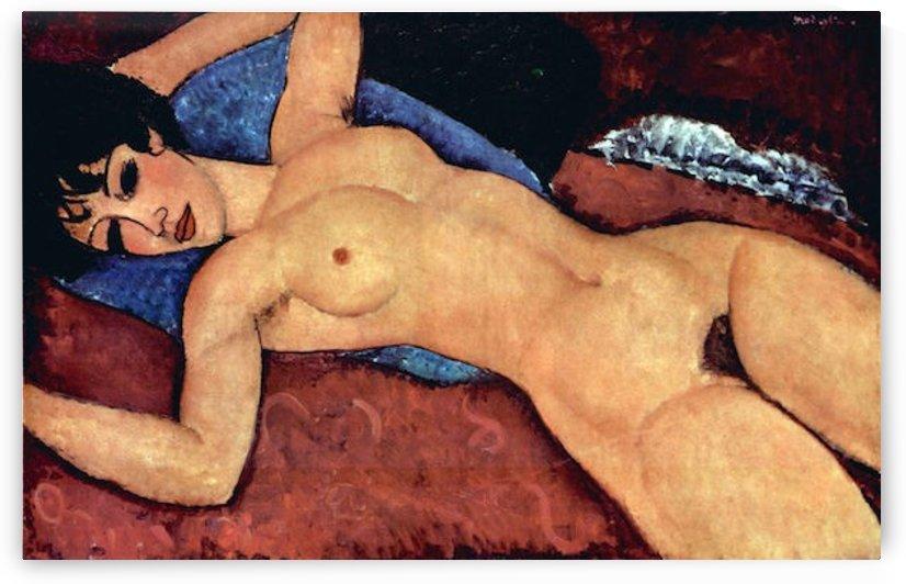 Modigliani - Reclining Nude by Modigliani