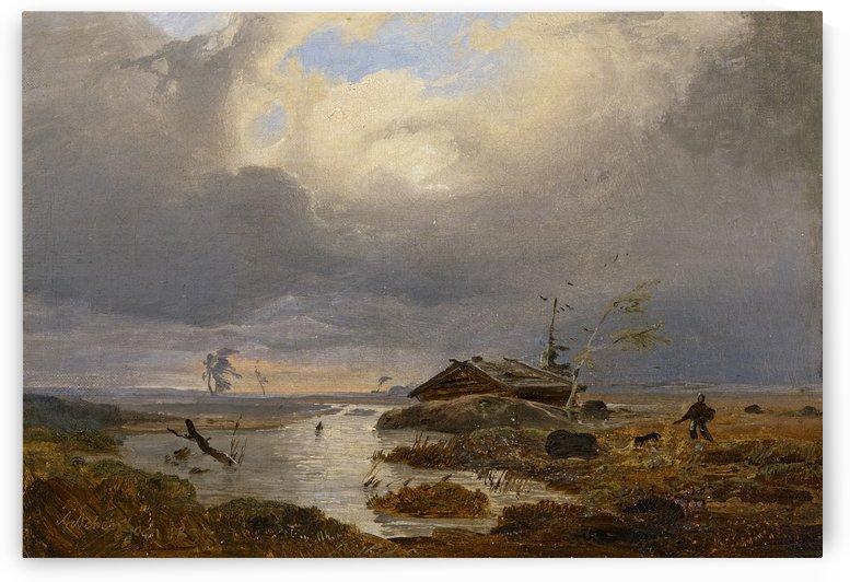 Skandinavische Landschaft by Andreas Achenbach