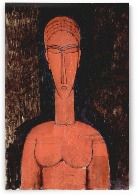 Modigliani - Red breasts by Modigliani