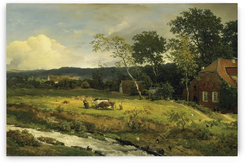 Landschaft in Hessen by Andreas Achenbach