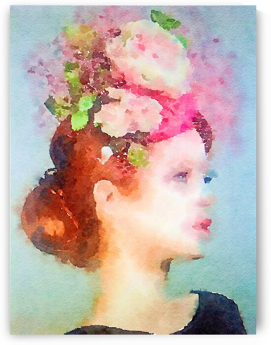 lady in pink fascinator by Kath Sapeha