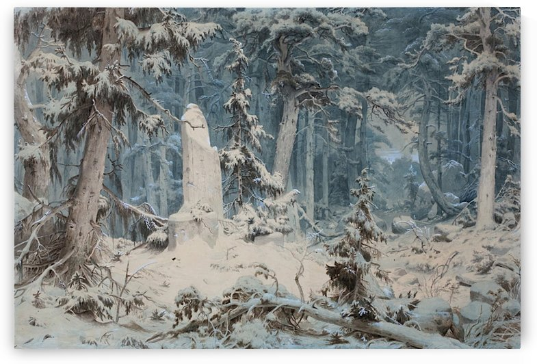 Snowy Forest by Andreas Achenbach