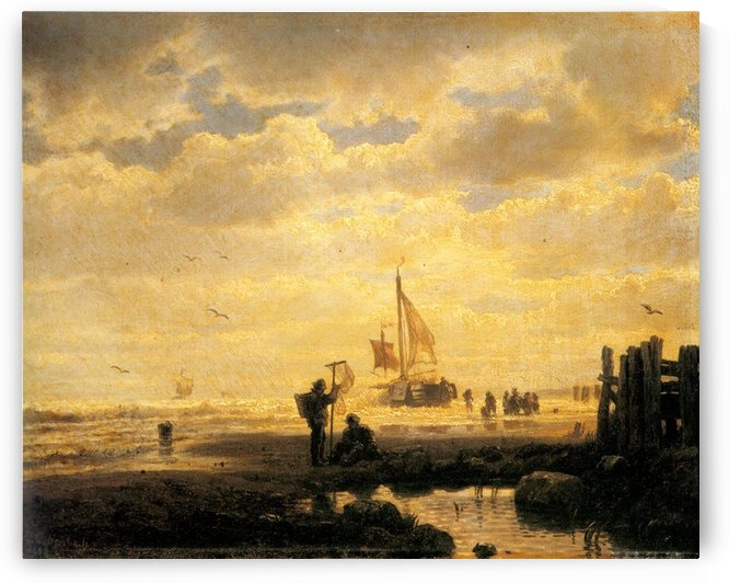 Bringing in the Catch by Andreas Achenbach